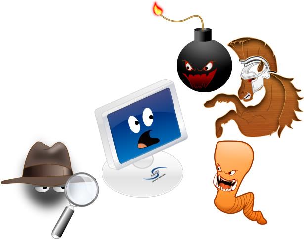 Los Tipos Mas comunes de malware