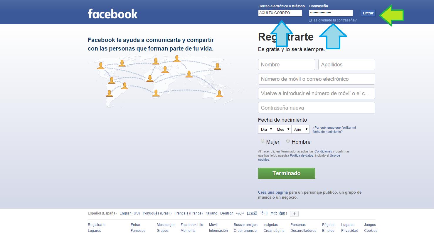 Facebook lite iniciar sesion