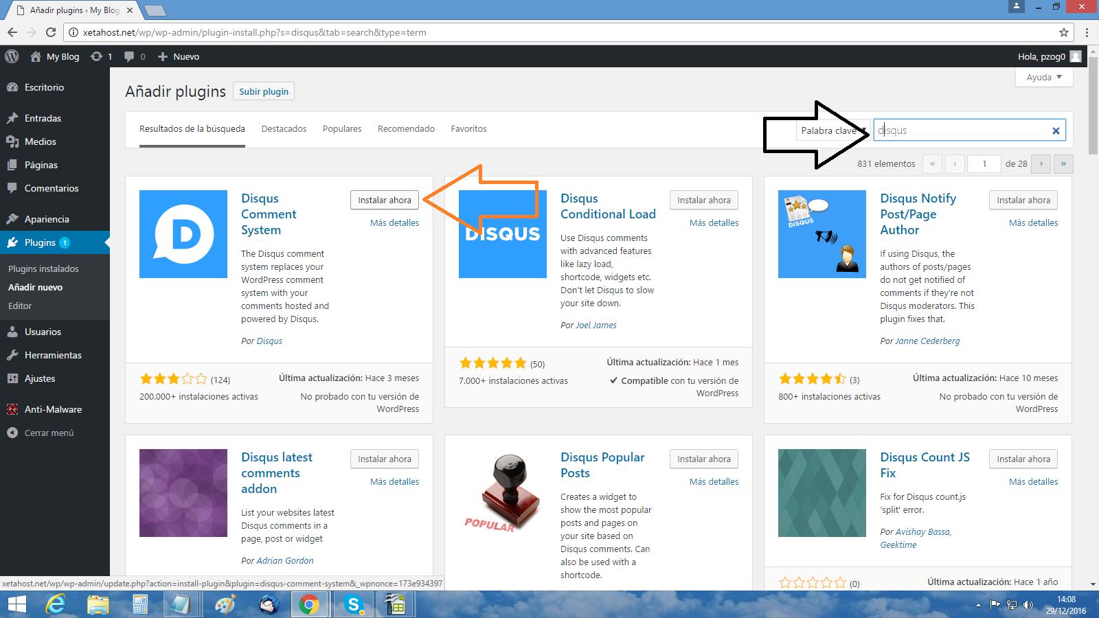 Cómo instalo Disqus en WordPress