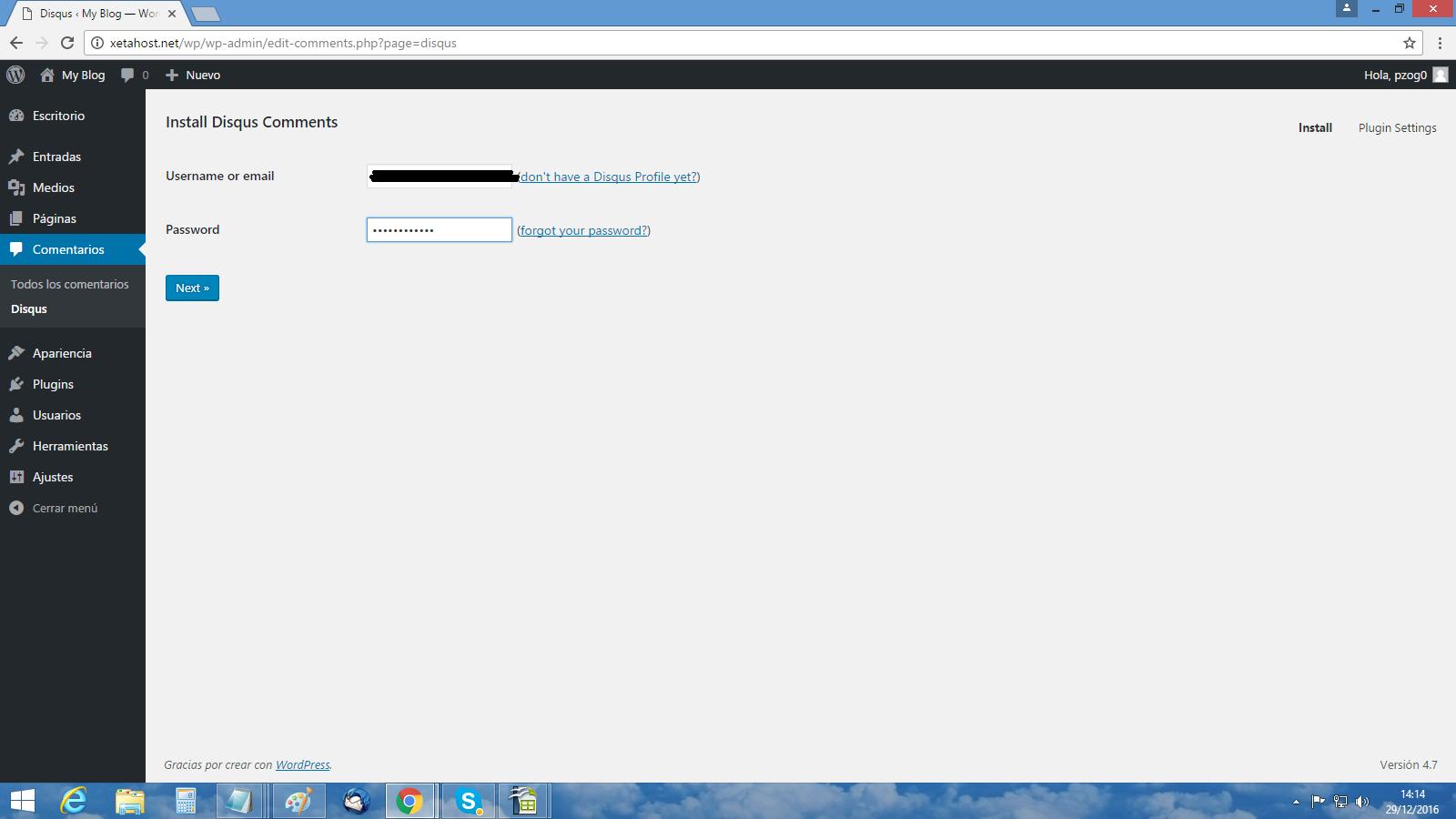 Cómo instalo Disqus en WordPress 2
